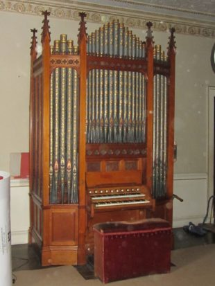 3a the restored organ at Erddig, just installed and tuned