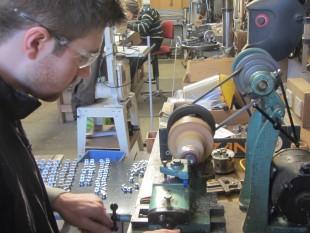 Chris Davies making reed blocks 1