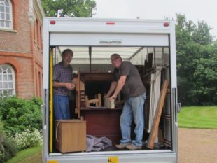 5 Edward and Graham with the Byfield organ safely stowed a