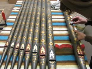 erddig joseph restoring bevington organ front pipes